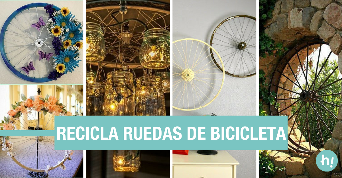 Ideas para decorar y reciclar ruedas de bicicleta - Reciclar para decorar ...