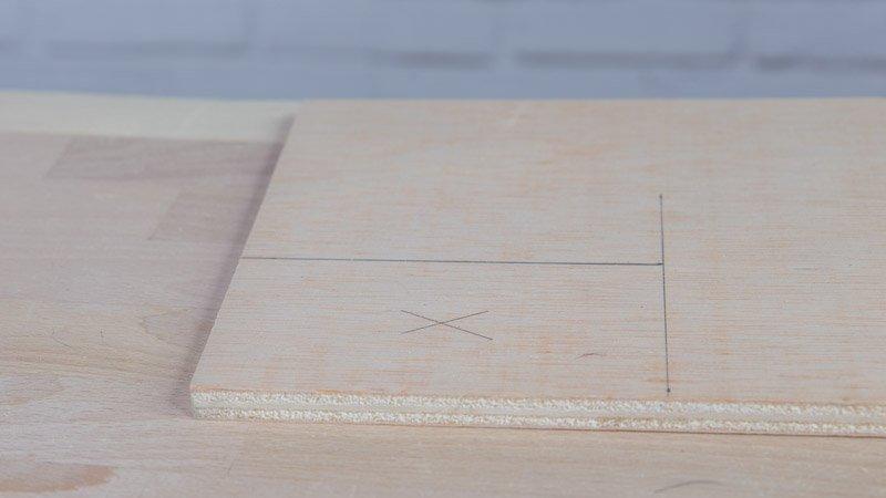 Creación del separador de madera para montar la lámpara en forma de estrella