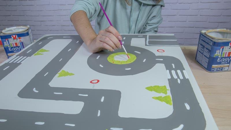 Pintado de la mesa de juegos