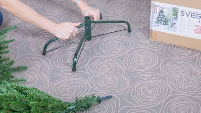 Montaje del árbol de Navidad