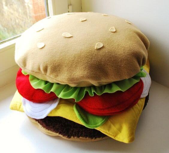 cojín hamburguesa