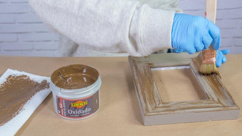 Aplicación del efecto oxidado