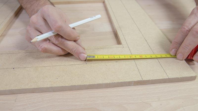 Flexómetro para medir y marcas las distancias