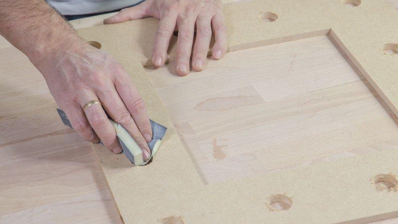 Taco de lija para pulir la madera