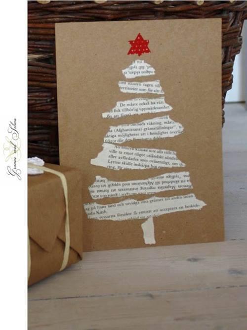 tarjetas-navidenas-arbol-hecho-con-papel-de-periodico