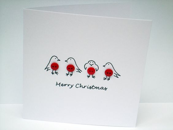 tarjetas-navidenas-pajaritos-con-botones-rojos