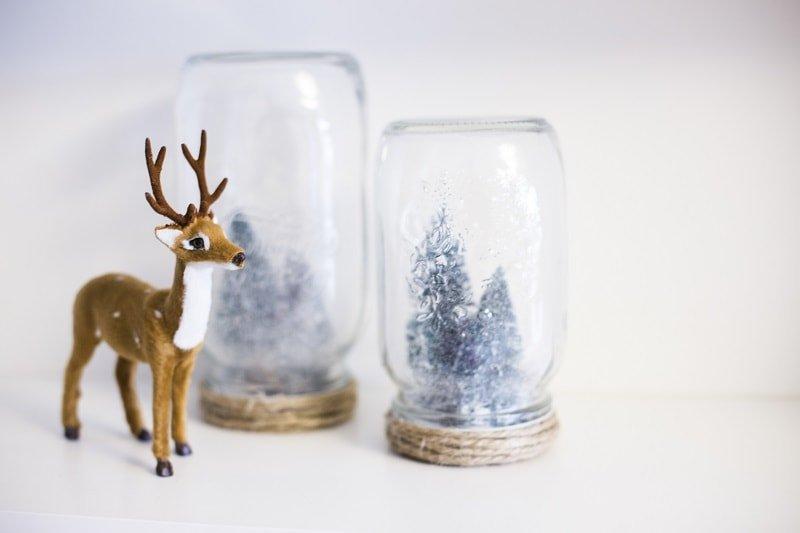 Botes de cristal navideños