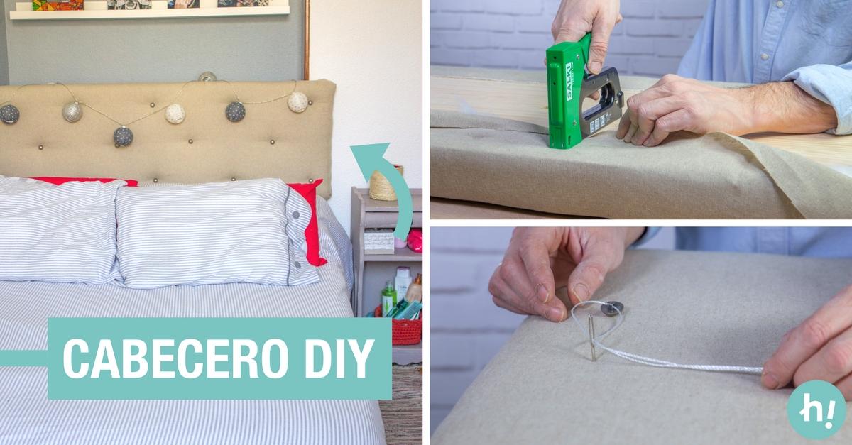 C mo hacer un cabecero tapizado para la cama handfie diy - Como hacer cabeceros de cama ...
