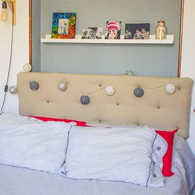 cmo hacer un cabecero tapizado para la cama handfie diy - Como Hacer Un Cabecero De Tela