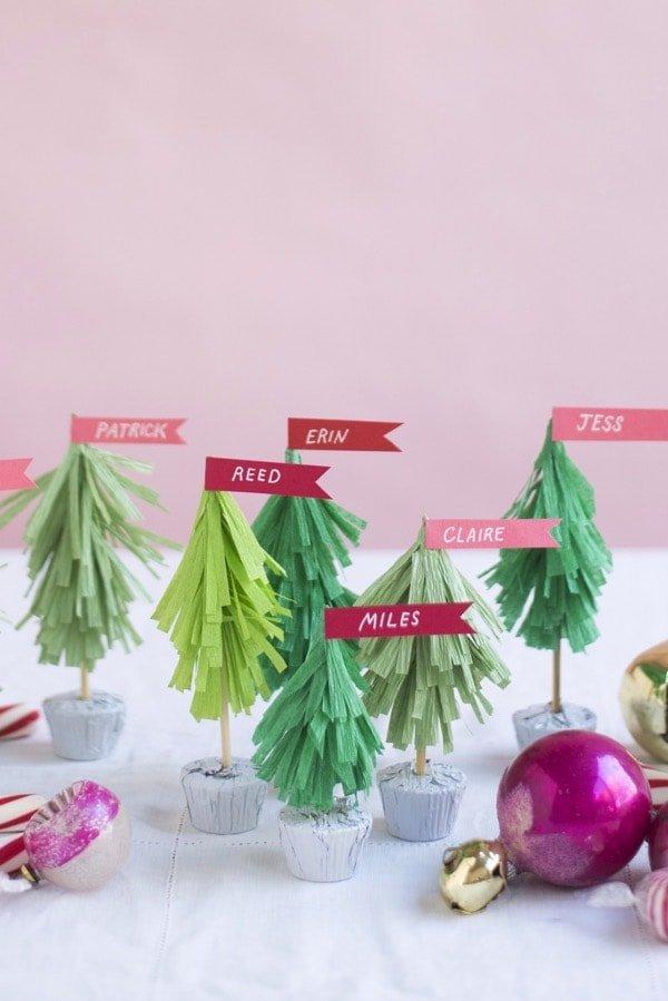 Arbolitos de Navidad para poner los nombres