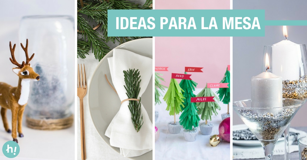 14 ideas de decoraci n navide a para la mesa handfie diy - Ideas de decoracion navidena ...