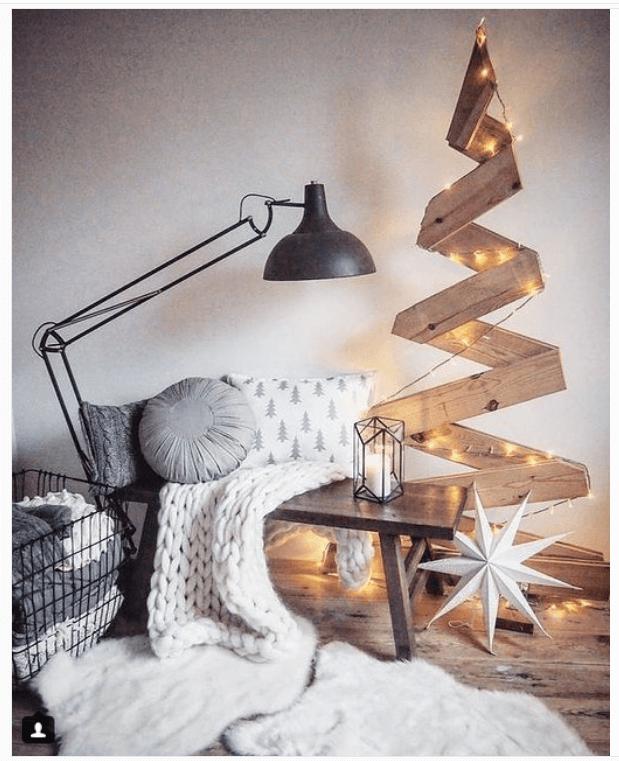Decora con un rbol de navidad 14 ideas de rboles de navidad originales - Arboles de navidad de madera ...