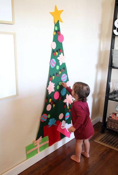 arboles-de-navidad-originales-hecho-con-fieltro-para-ninos