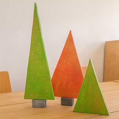 Árboles de Navidad caseros de madera