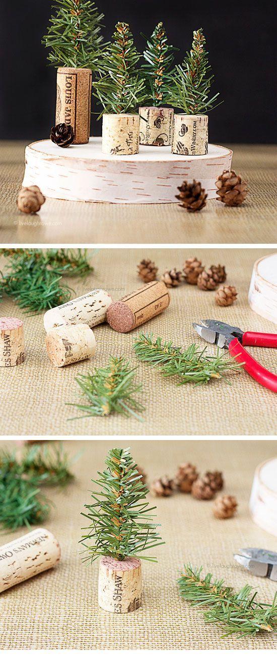 Arbolitos de Navidad con corchos