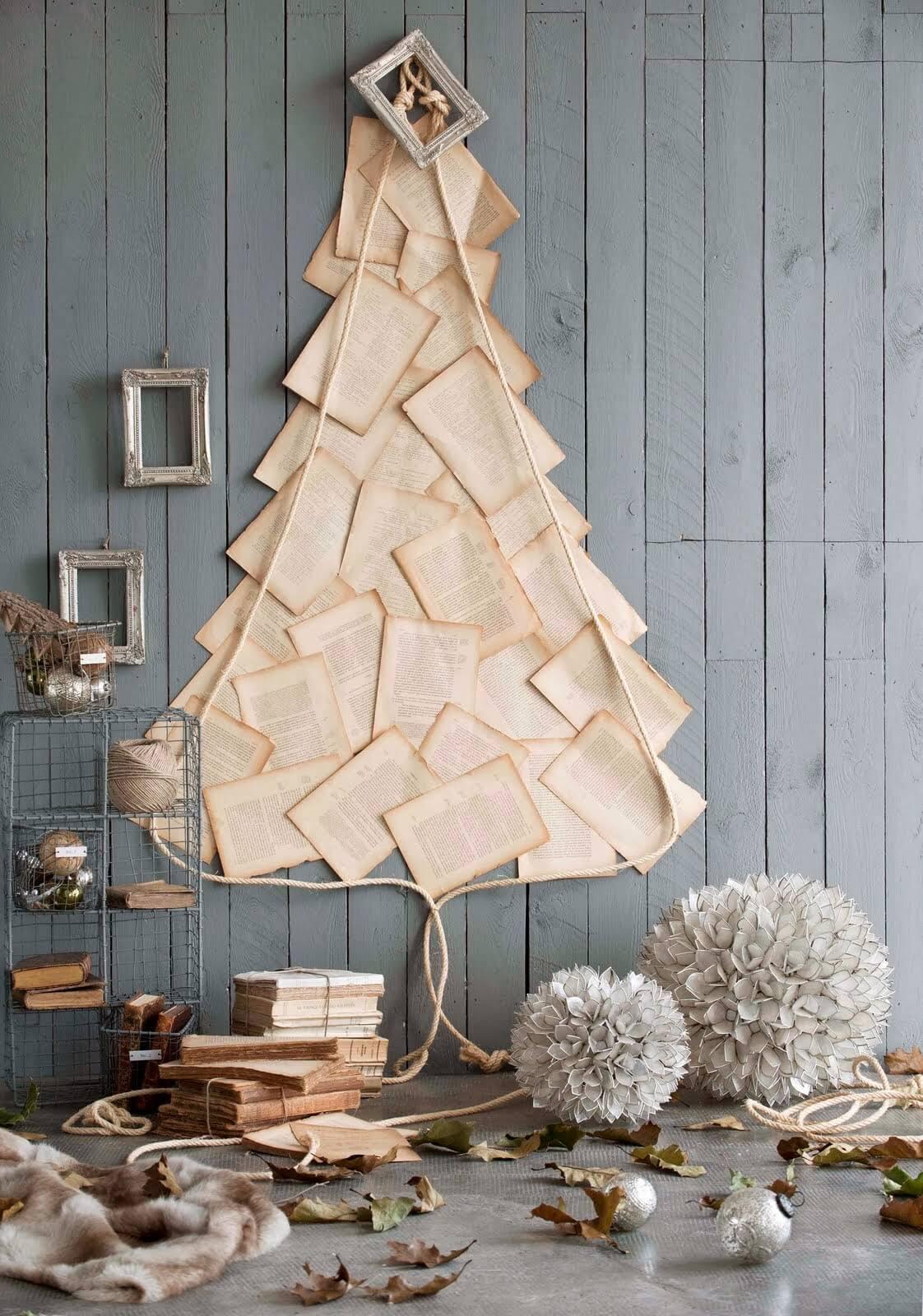 arboles-de-navidad-originales-hecho-con-paginas-de-libro-antiguo