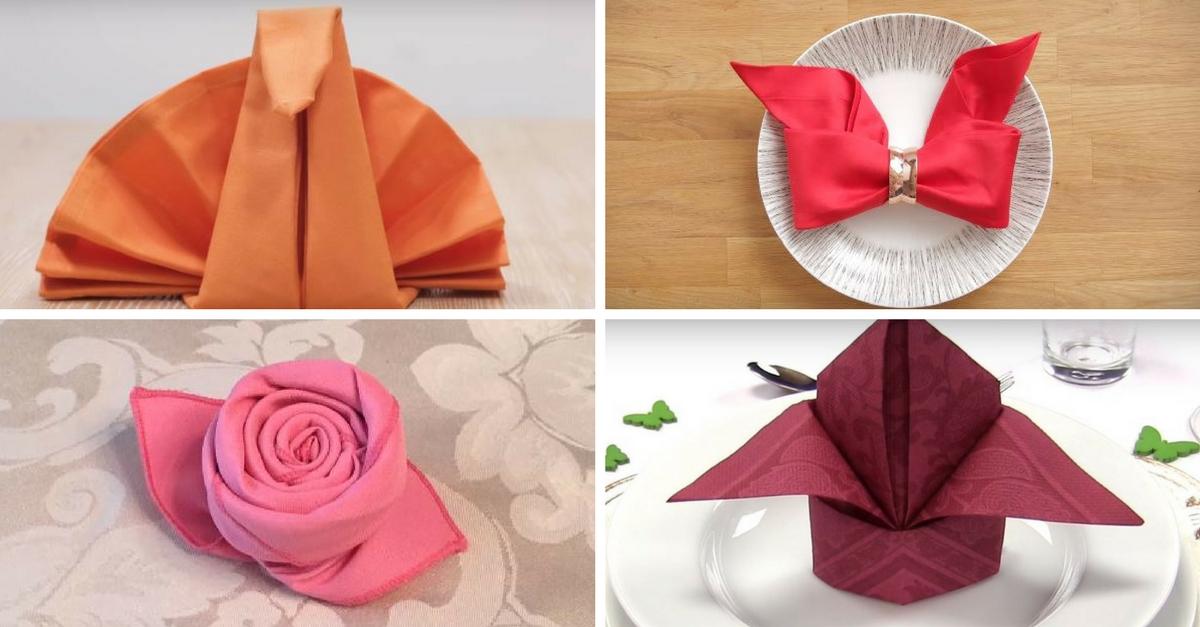 Doblar servilletas 17 formas originales handfie diy - Como doblar servilletas de tela ...