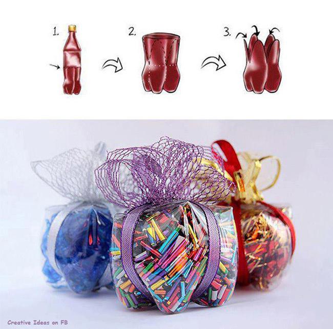 Envoltorio para regalo con botellas