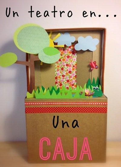 Miniteatro en una caja de cartón