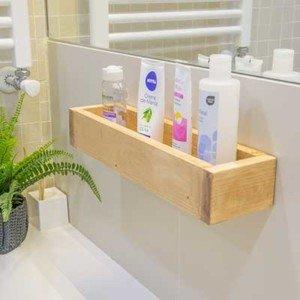 Estante para el baño de madera