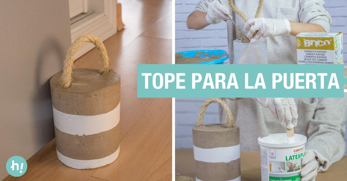 Tope para la puerta de cemento y cuerda - Handfie DIY