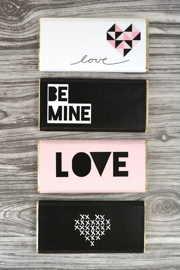 Envoltorios de chocolate personalizados