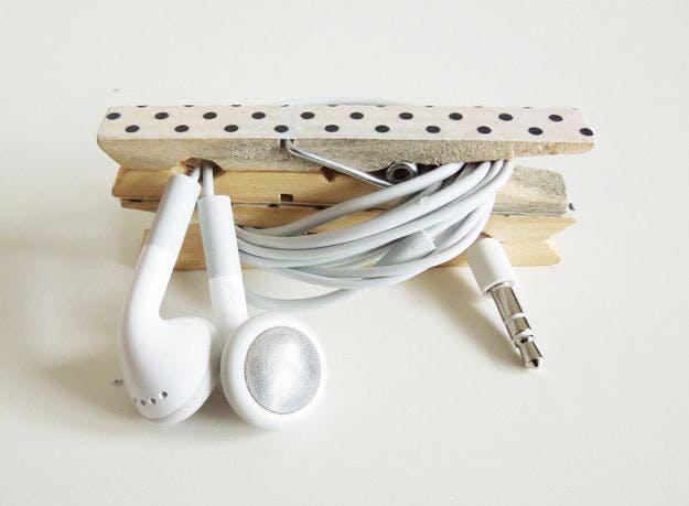 Organizador de auriculares