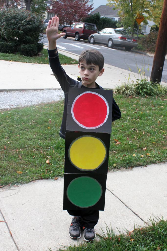 Disfraz de semáforo