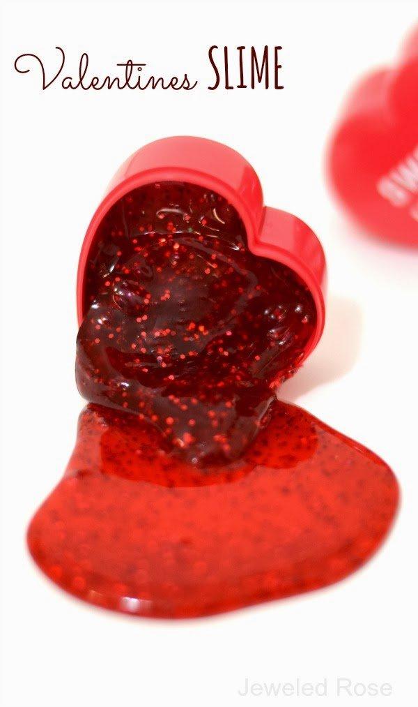 Slime para regalar en San Valentín