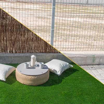 Cómo instalar una valla de mimbre en el jardín