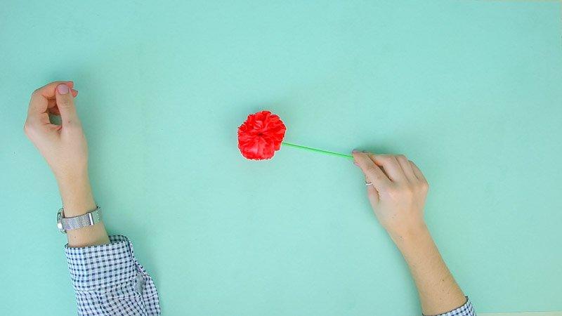 Flores de papel: clavel