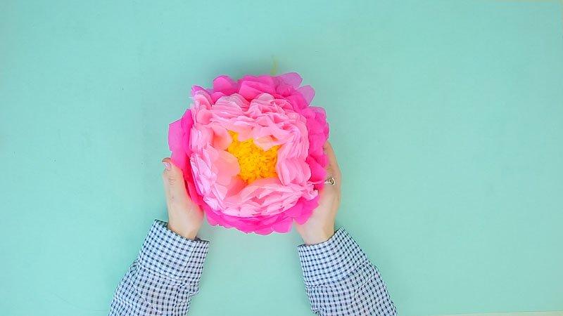 Flores de papel de seda: hortensia