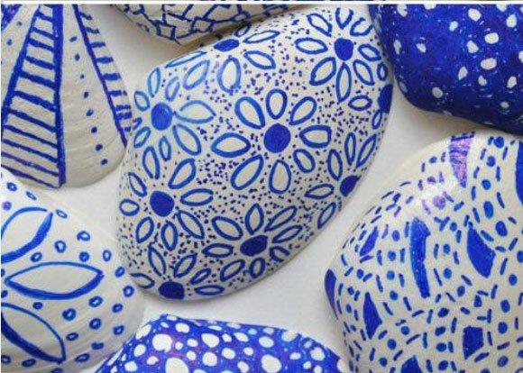 Conchas decoradas con rotulador