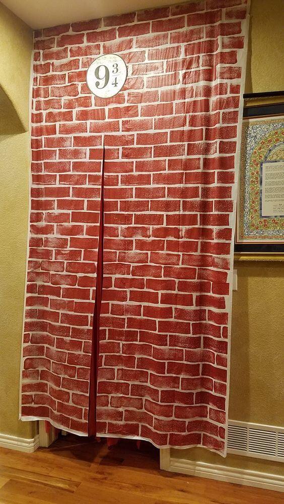 Andén 9 3/4 de Harry Potter, manualidades para cumpleaños