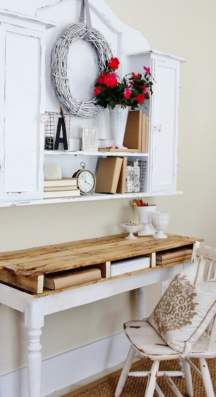Muebles con palets - escritorio