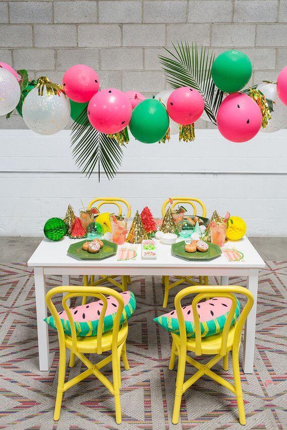 Decoración de cumpleaños para fiesta hawaiana