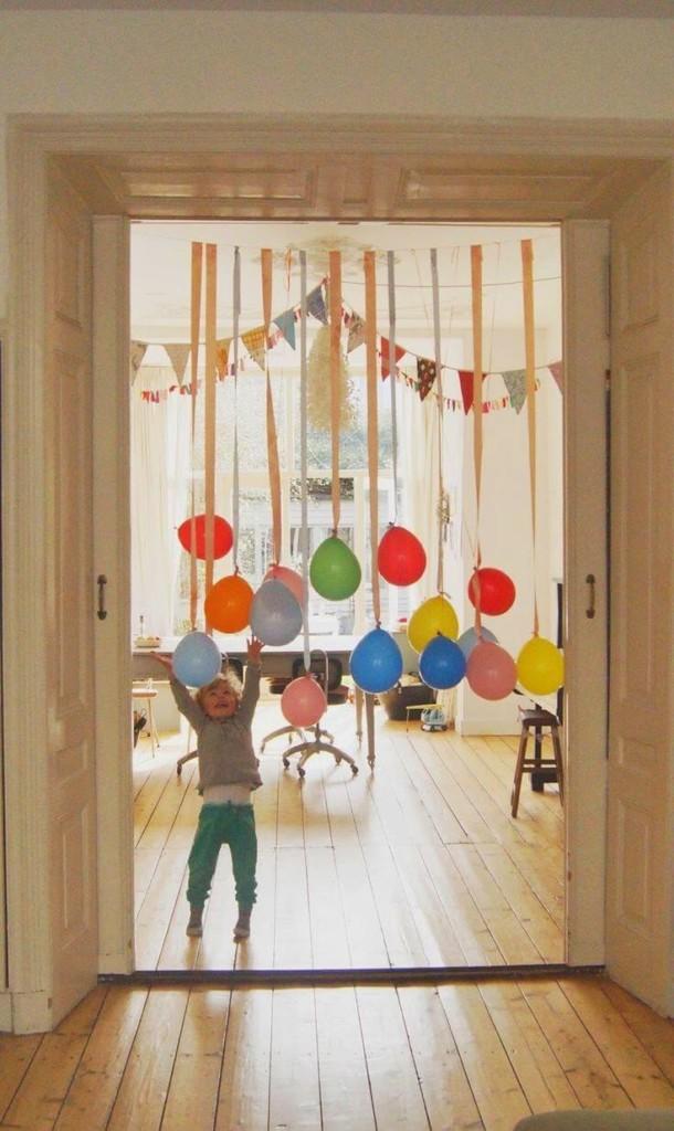 Guirnalda de entrada con globos