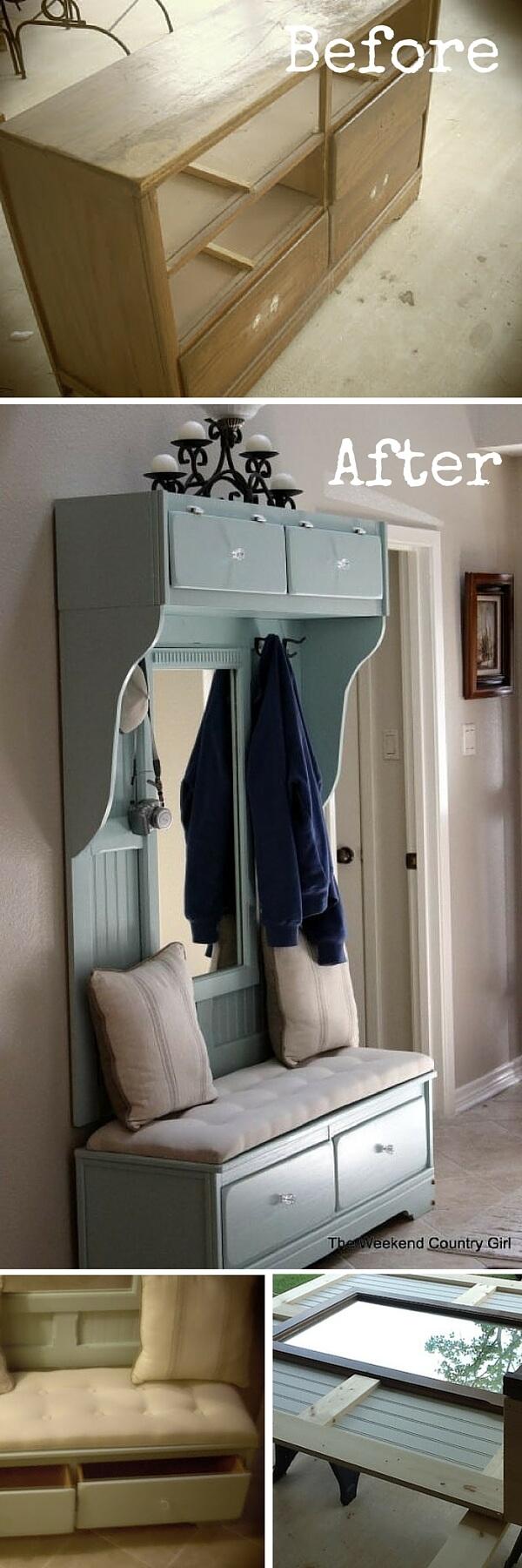 Restaurar muebles antiguos recibidor mueble de entrada - Muebles de recibidor clasicos ...
