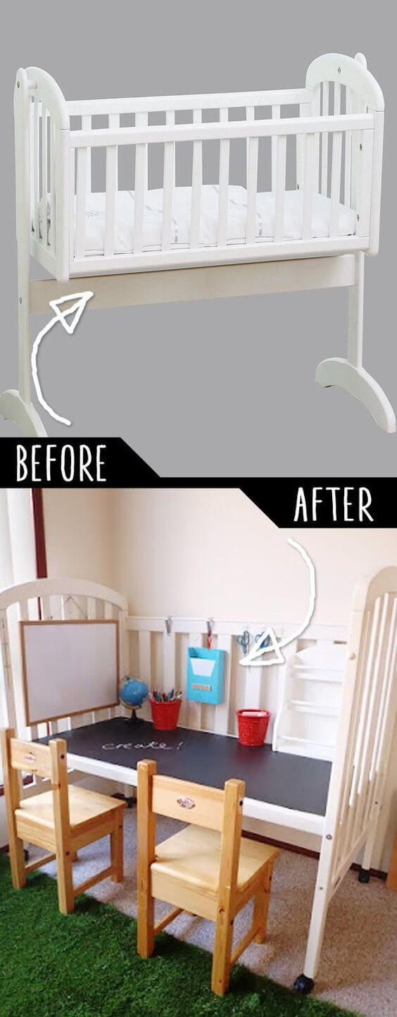 Restaurar muebles antiguos transformar cuna de barrotes en - Transformar muebles viejos ...