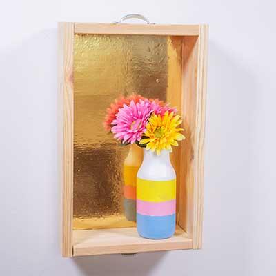 Cajón de madera para la pared