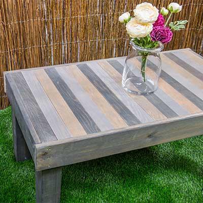 C mo hacer una mesa de madera para el jard n handfie diy - Mesas de madera para jardin ...