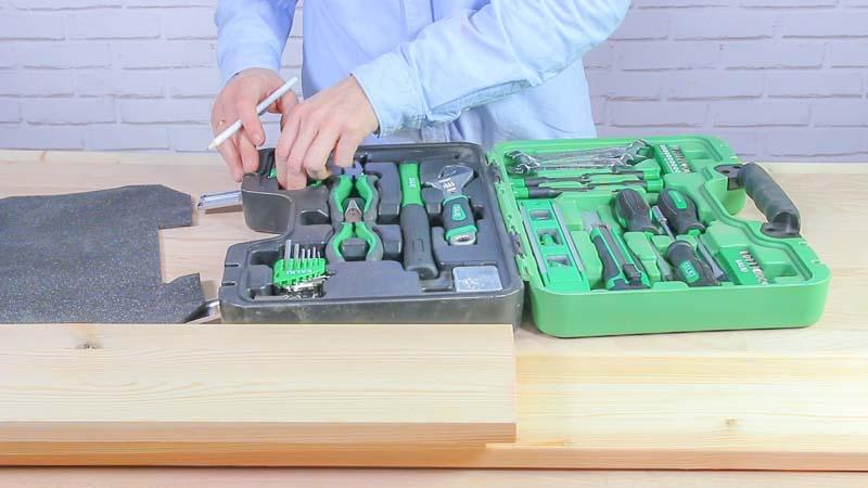 Maleta de herramientas de 51 piezas de Salki