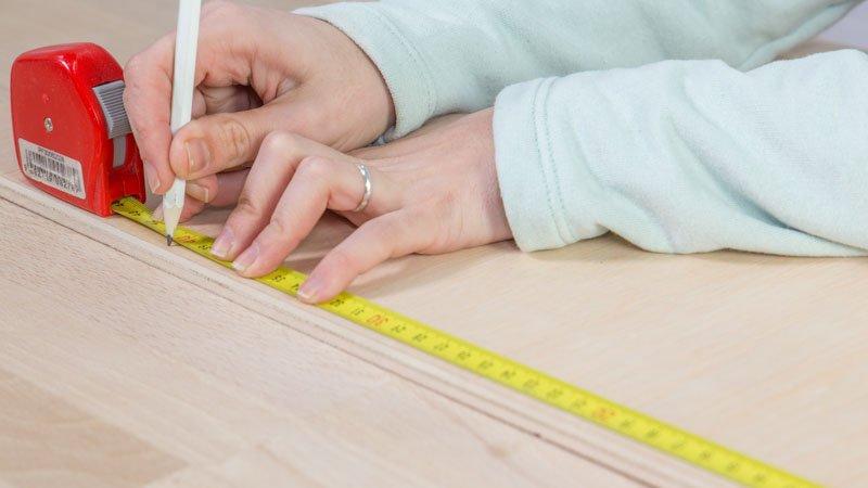 Medición de las piezas de madera