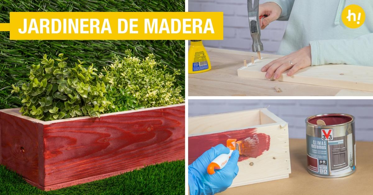 C mo hacer una jardinera de madera para tus plantas - Como hacer una jardinera de madera ...