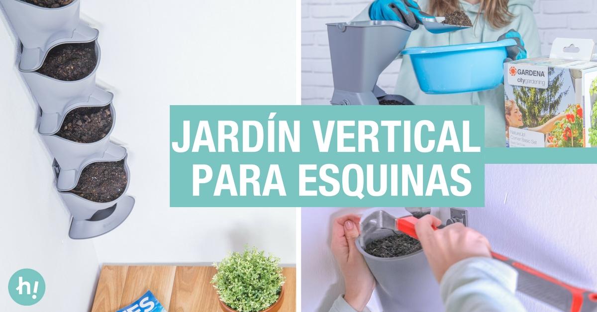 C mo hacer un jard n vertical en una esquina handfie diy for Jardin vertical de fieltro en formato kit