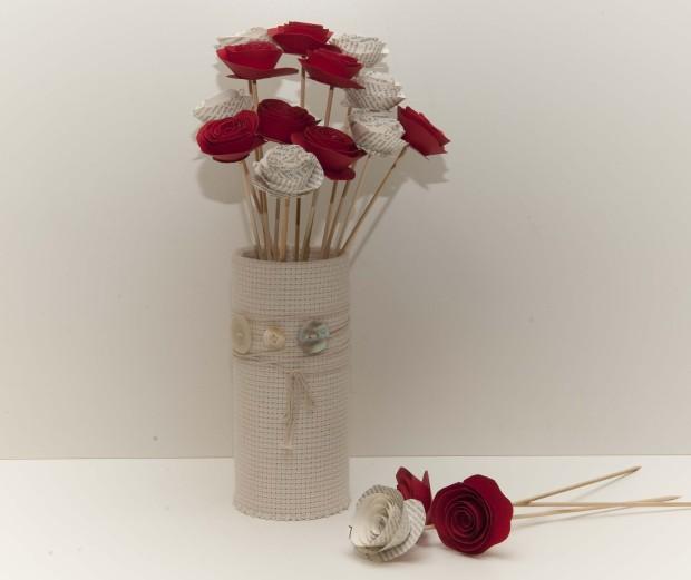 Manualidades con cartulina: rosas