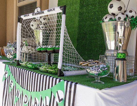 Decoración fiesta temática fútbol