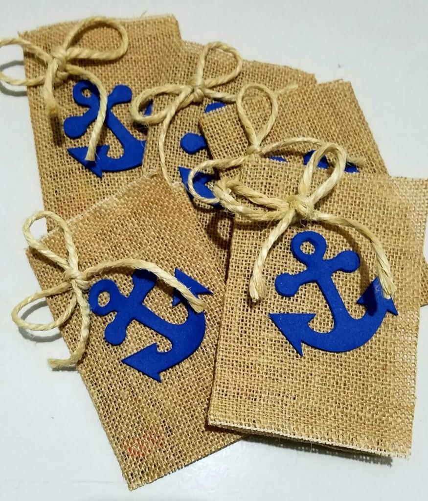Banderines marineros con tela de yute
