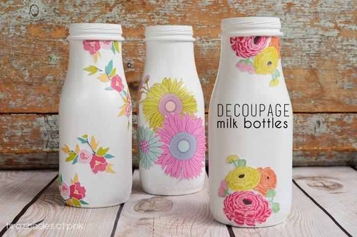 Botellas decoradas 15 ideas para transformarlas handfie diy - Papel para vidrios ...