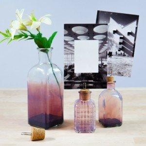 Decorar botellas de cristal